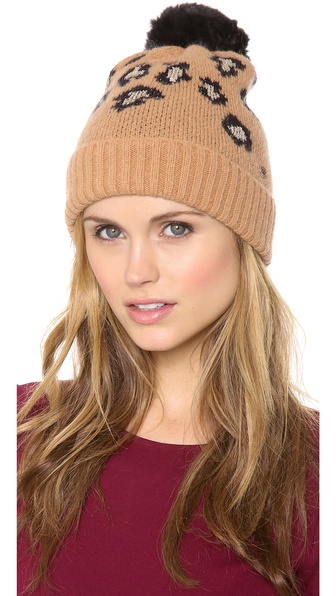 Juicy Couture Leopard Print Beanie Hat