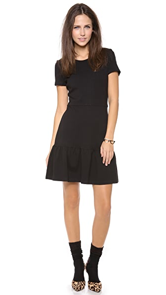 Juicy Couture Solid Ponte Flirty Dress