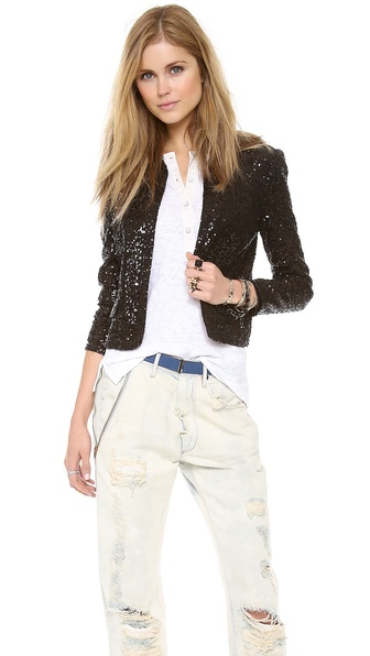 Juicy Couture Mini Sequin Jacket