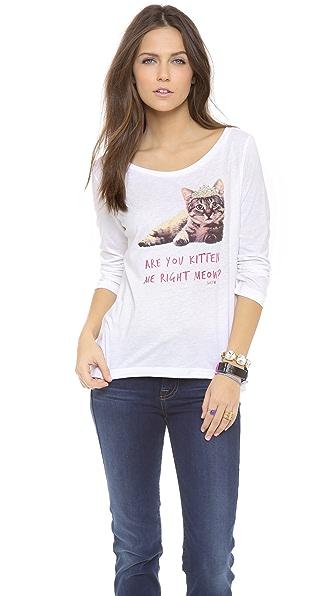 Juicy Couture Kitten Boat Neck Tee