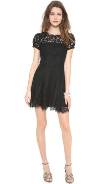 Juicy Couture Neon Corded Lace Dress