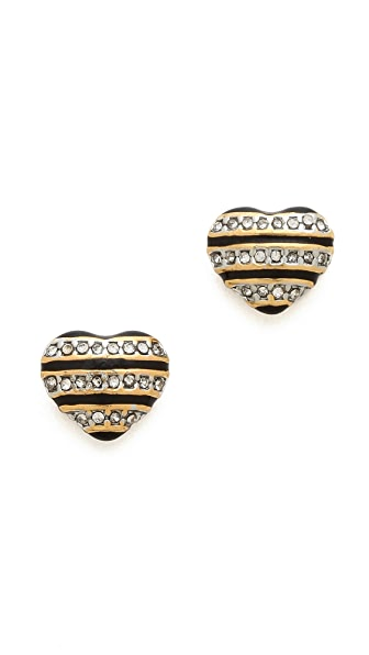 Juicy Couture Mad for Mod Pave Striped Stud Earrings