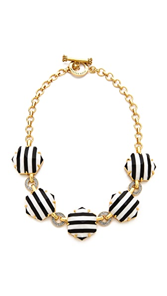 Juicy Couture Striped Hexagon Link Necklace