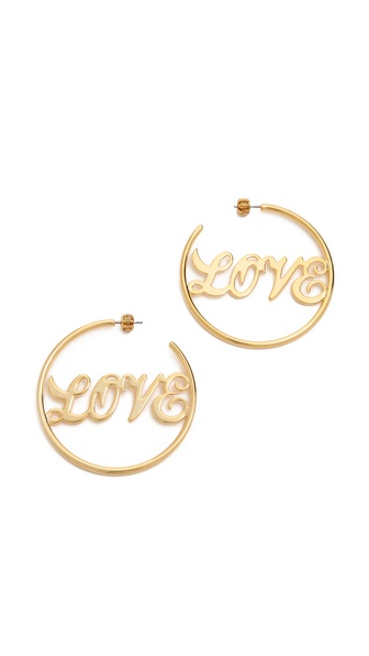 Juicy Couture Love Hoop Earrings