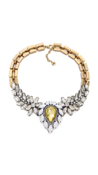 Juicy Couture Brillant Blooms Gemstone Drama Necklace