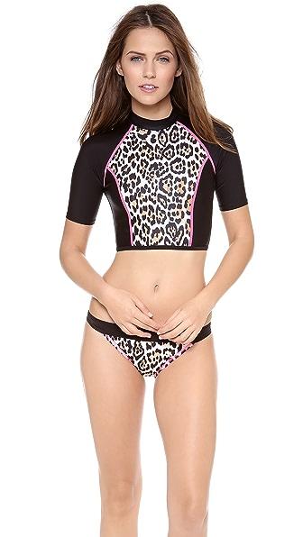 Juicy Couture Wildcat Rash Guard Top