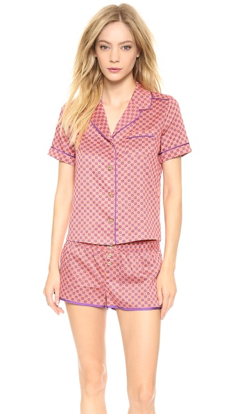 Juicy Couture Printed Sateen PJ Top