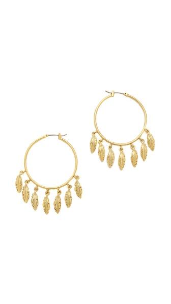 Juicy Couture Multi Feather Hoop Earrings