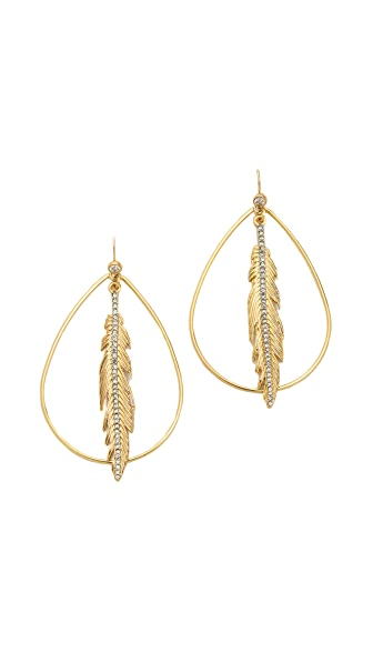 Juicy Couture Feather Hoop Earrings