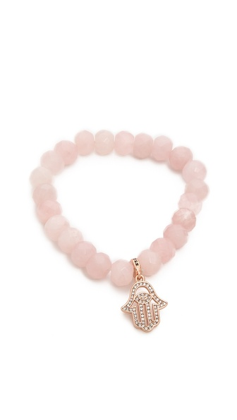 Juicy Couture Pave Color Crush Genuine Beaded Bracelet