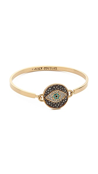 Juicy Couture Pave Evil Eye Bangle Bracelet