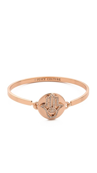 Juicy Couture Pave Hamsa Bangle Bracelet