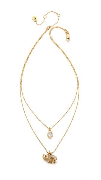 Juicy Couture Pave Elephant Chain Necklace