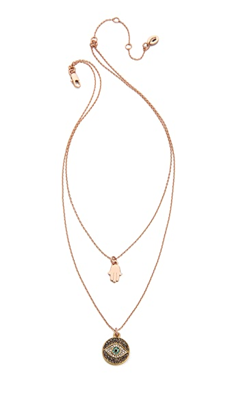 Juicy Couture Pave Evil Eye Chain Necklace