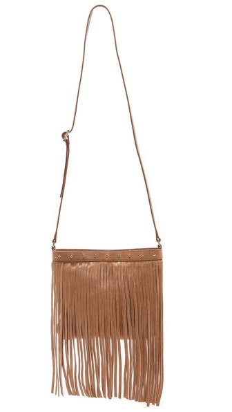Juicy Couture Heritage Large Fringe Cross Body Bag - Camel