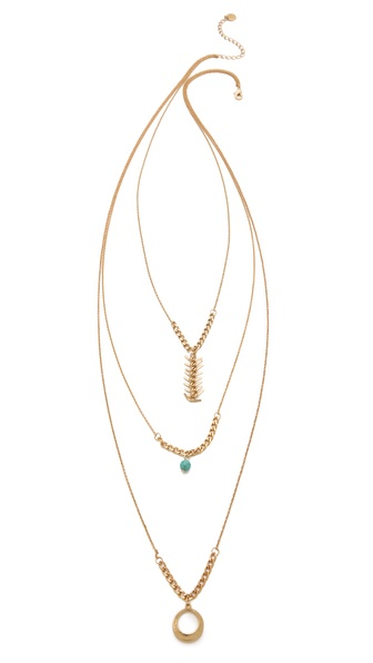 Jules Smith Tangier Layered Charm Necklace