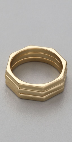 Jules Smith Prism Thin Ring Set