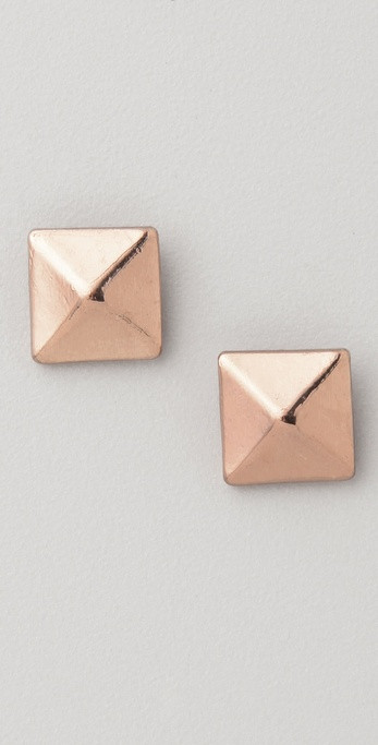 Jules Smith Cairo Pyramid Stud Earrings