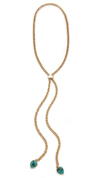 Jules Smith Turquoise Lariat Necklace