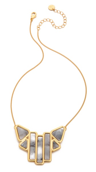 Jules Smith Howlite Art Deco Necklace