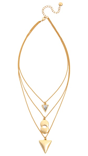 Jules Smith Triple Charm Short Necklace