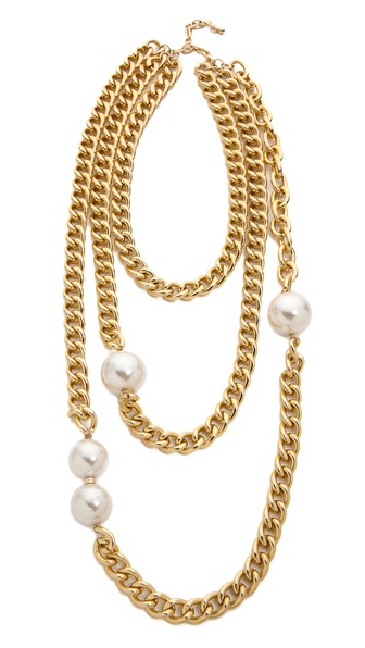 Jules Smith Layered Imitation Pearl Triple Necklace