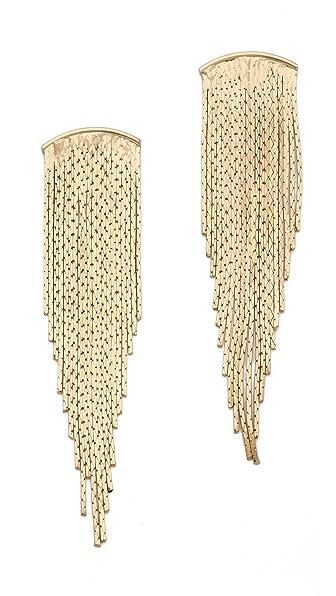 Jules Smith Bar Fringe Earrings