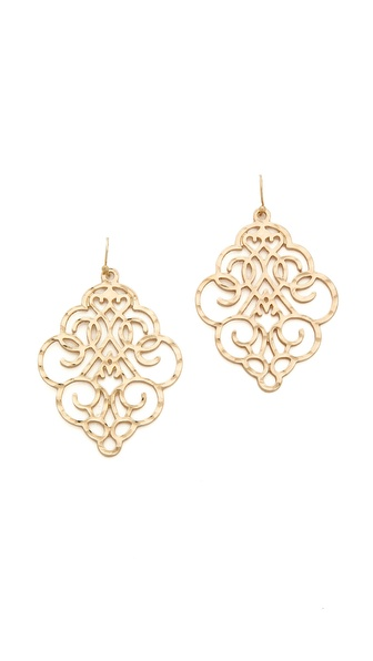 Jules Smith Hammered Drop Earrings