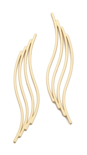 Jules Smith Wave Bar Earrings