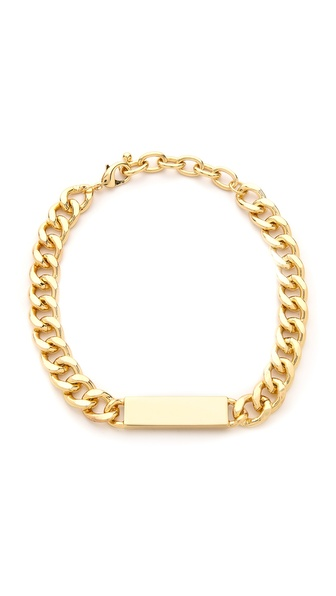 Jules Smith Curb Link Id Necklace - Gold