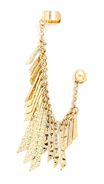 Jules Smith Hammered Petal Cuff Earring