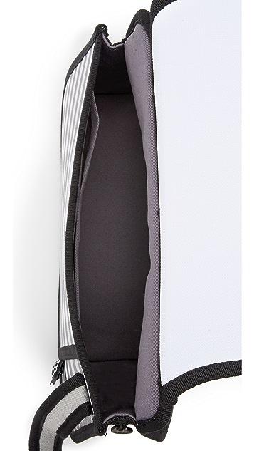 JumpFromPaper 条纹肩背包