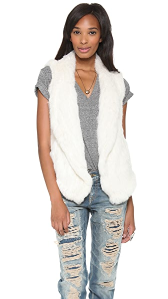 June Knit Fur Vest