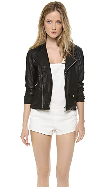 June Vintage Leather MC Jacket