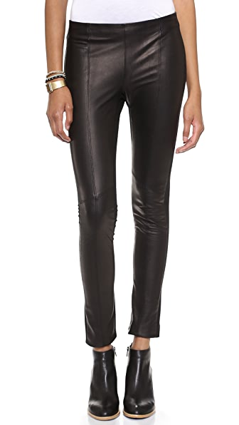 June Classic Leather & Ponte Leggings