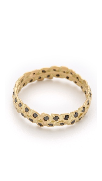 Jamie Wolf Black Diamond Filigree Ring