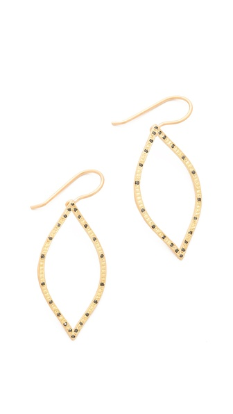 Jamie Wolf Open Leaf Black Diamond Earrings
