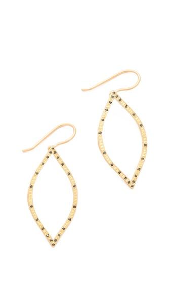 Jamie Wolf Open Leaf Black Diamond Earrings