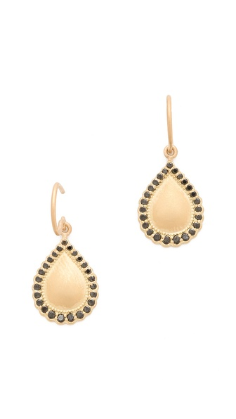 Jamie Wolf Black Diamond Teardrop Earrings