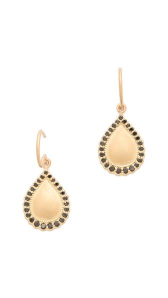 Jamie Wolf Black Diamond Teardrop Earrings