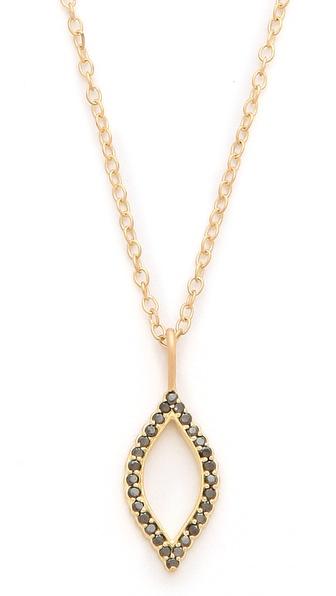 Jamie Wolf Black Diamond Marquis Necklace