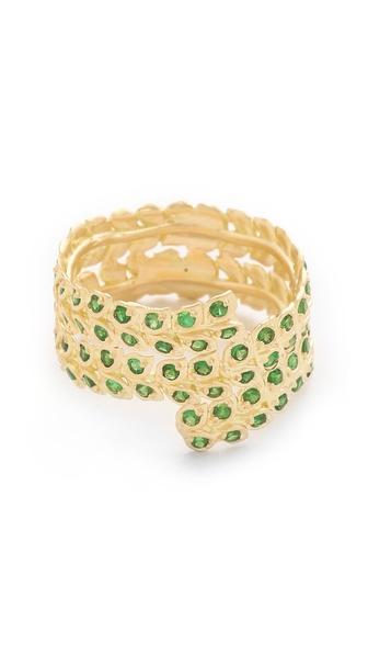 Jamie Wolf Gold Vine Ring with Tsavorite