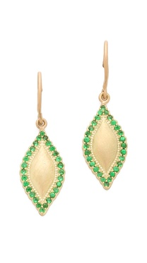 Jamie Wolf Gold Scallop Marquis Earrings