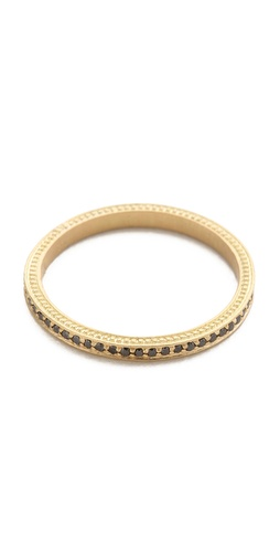 Jamie Wolf Thin Pave Black Diamond Band
