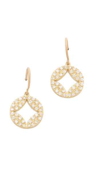 Jamie Wolf Open Pave Aladdin Disc Earrings