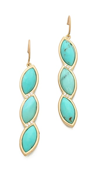 Jamie Wolf Marquis 3 Leaf Earrings