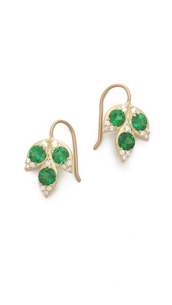 Jamie Wolf Small Three Leaf Earrings