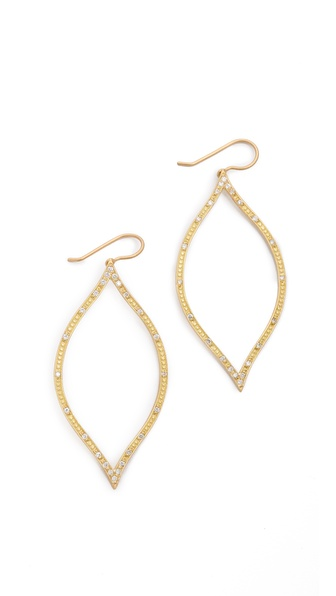 Jamie Wolf Open Marquis Diamond Leaf Earrings