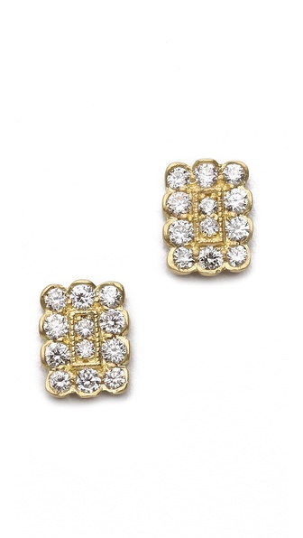 Jamie Wolf Small Rectangle Stud Earrings