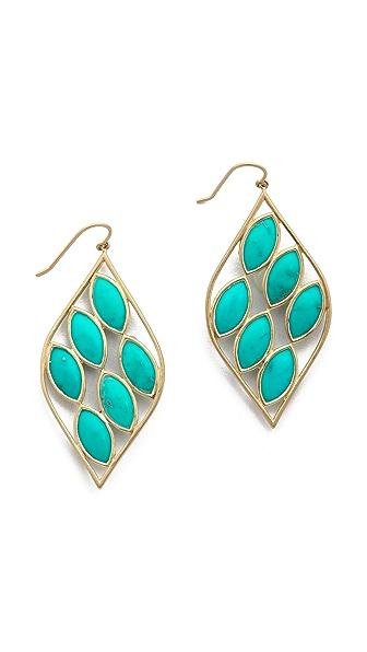Jamie Wolf Acorn Earrings with Turquoise Stones